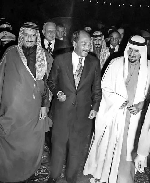 الملك سلمان في مقتبل شبابه.