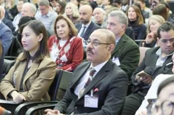 وفد من هيئة تقويم التعليم خلال مشاركته في المنتدى العالمي للتعليم.