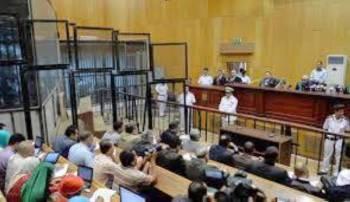 القاتل يمثل أمام محكمة جنايات الزقازيق.