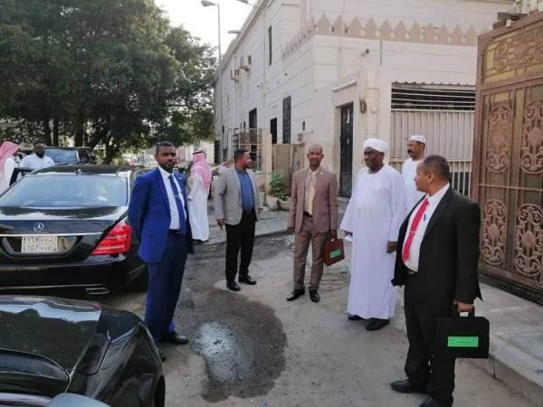 الزيارة التفقدية لوزير الأوقاف السوداني في جدة