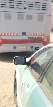 خلال ضبط سائق الحافلة المتهورة.