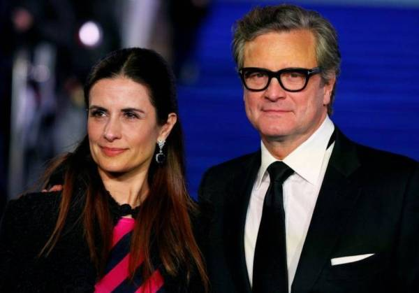 كولين فيرث وزوجته ليفيا جوجيولي. (رويترز)