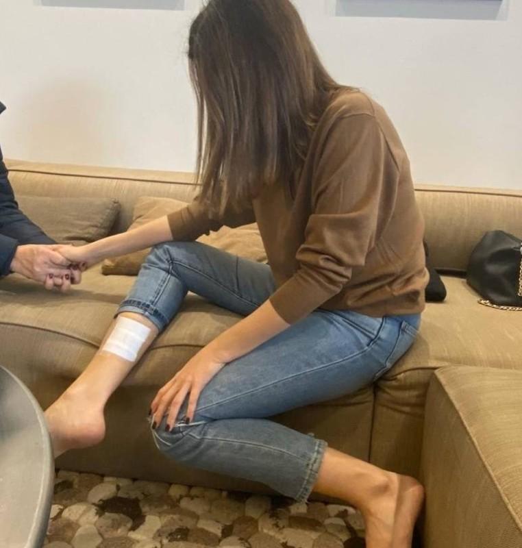 نانسي عجرم تعرضت لإصابة في الحادثة