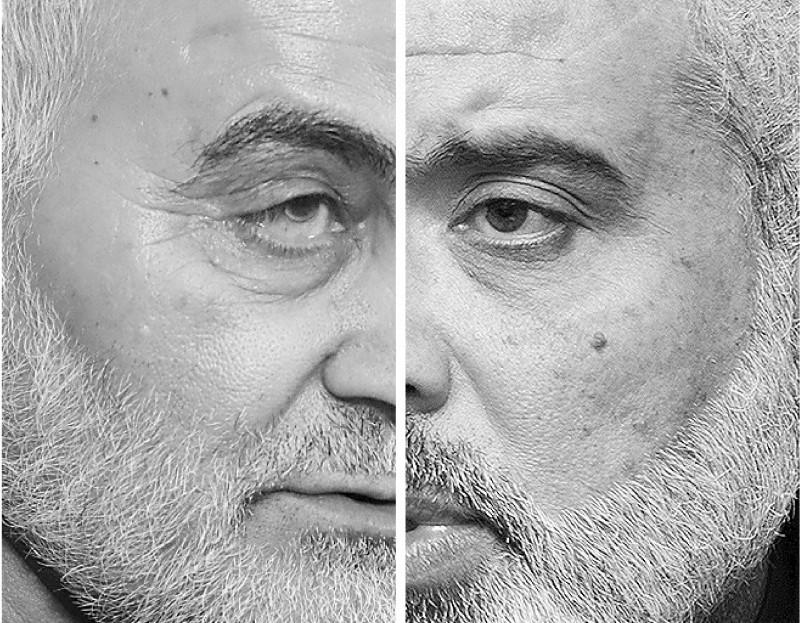 إسماعيل هنية وقاسم سليماني.