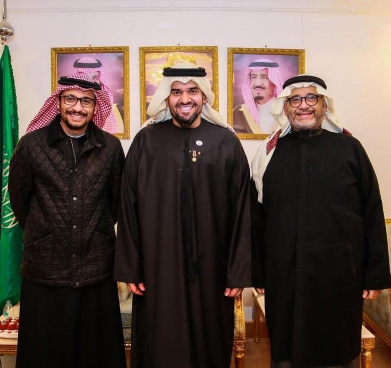 زكي حسنين وحسين الجسمي ومحمد زكي.
