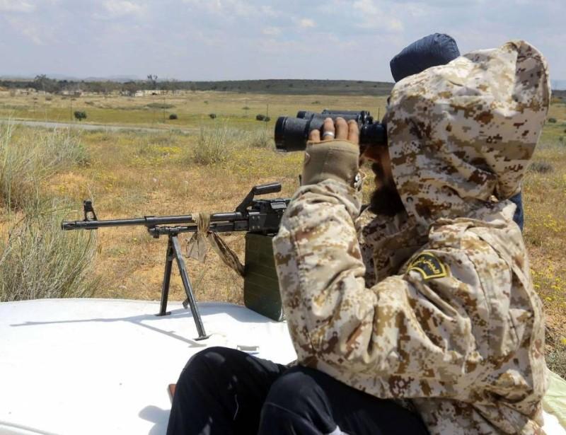 قوات من الجيش الوطني الليبي خلال فترة الهدنة (أرشفية - مرصد الشرق الأوسط)