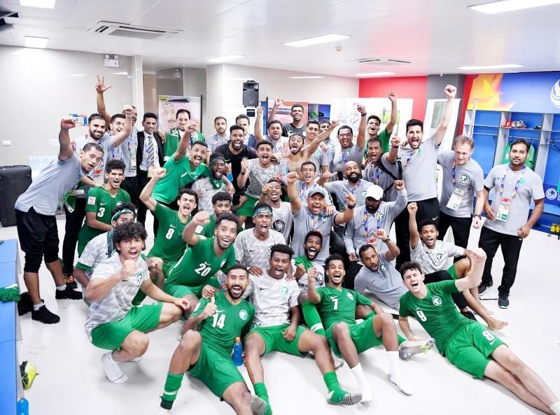 فرحة لاعبي منتخبنا الوطني بالوصول لنهائي كأس آسيا تحت 23 سنة، والتأهل لأولمبياد طوكيو 2020.