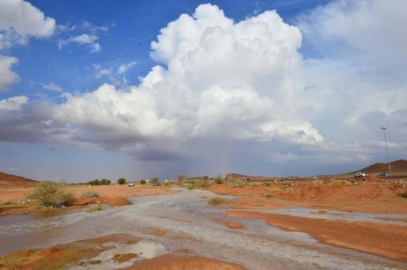أمطار على المنطقة الشمالية