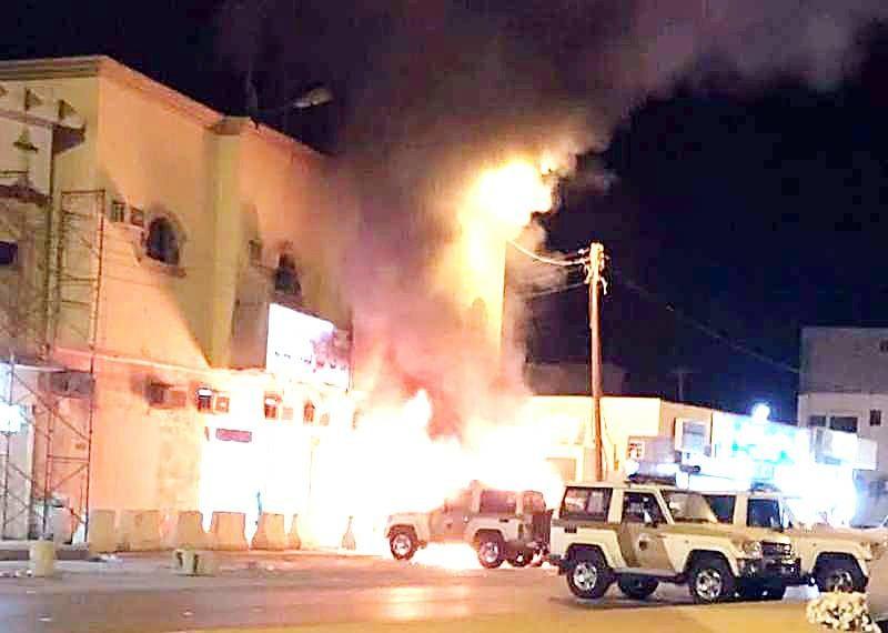 استهداف مركز شرطة الدلم.