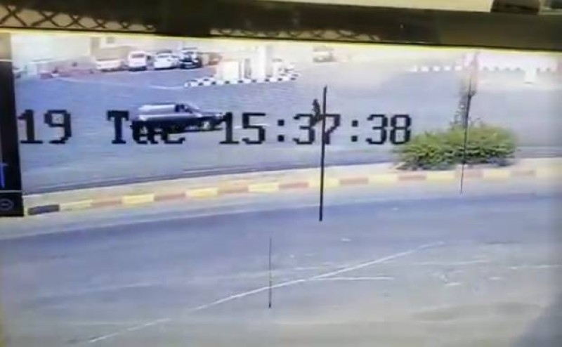 لقطة من فيديو الدهس