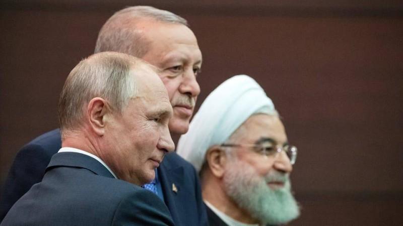 روحاني وبوتين وأردوغان في قمة سوتشي