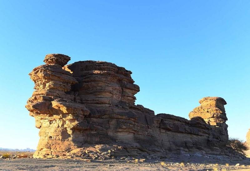 جبل السفينــة. تصوير: فهد العساف (واس)