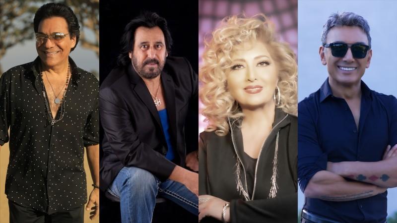 بعض الفنانين المشاركين في ليالي الموسيقى الفارسية.