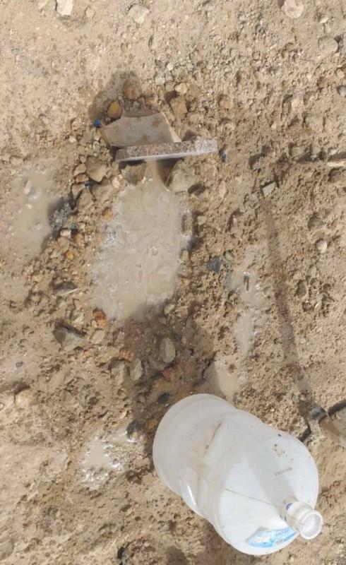 مثوى الرضيع بعد دفنه