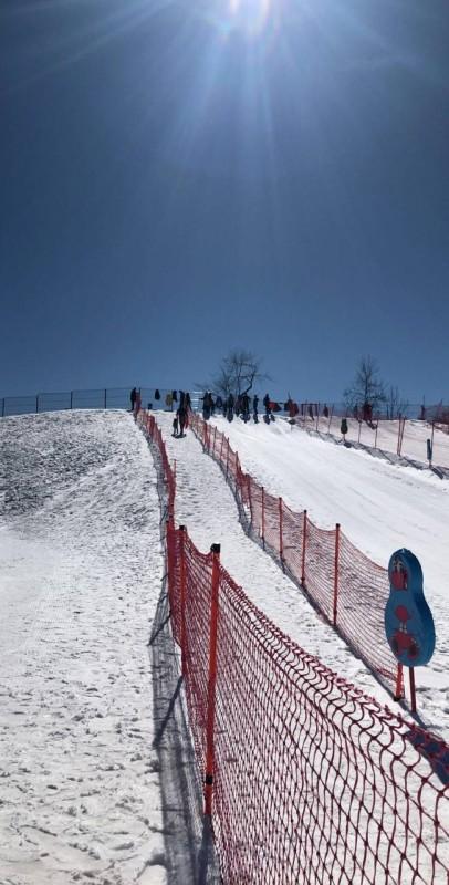 التزلج في قبالا شمال باكو.