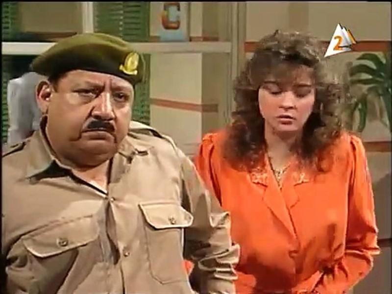 مع فايزة كمال في مسلسل رأفت الهجان.