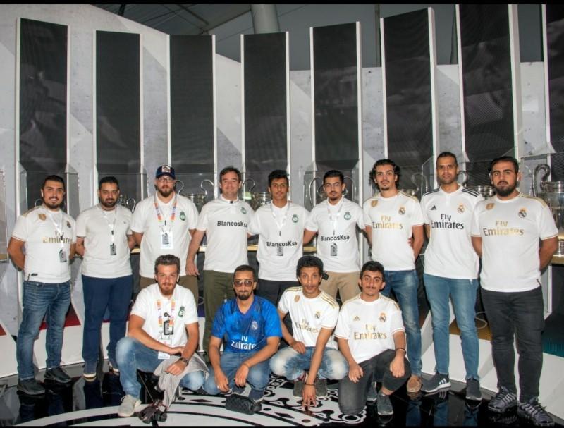 صورة لأعضاء رابطة ريال مدريد.