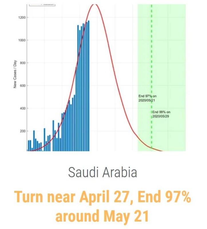 تقديرات DDI بالنسبة للسعودية.