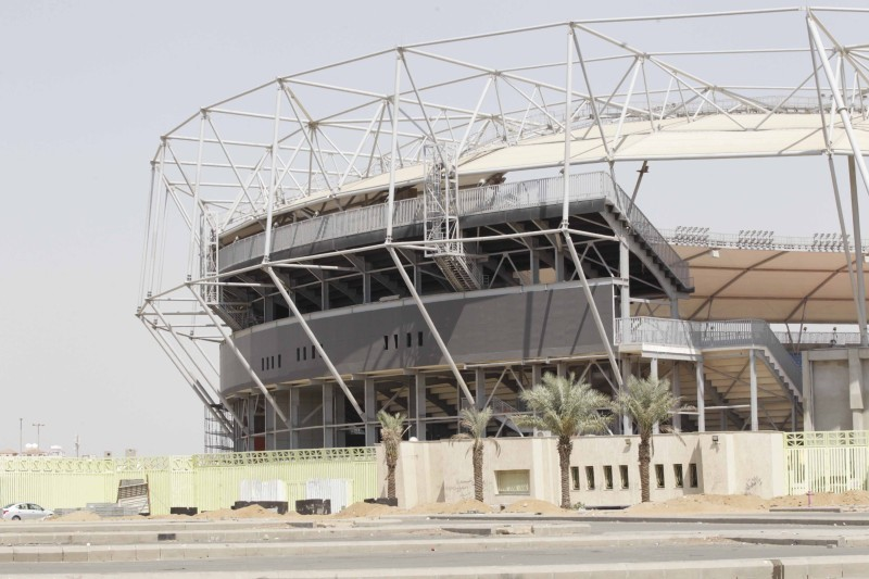 ملعب الأمير عبدلله الفيصل كما بدا أمس. (تصوير: عمرو سلام) amrosallam2@