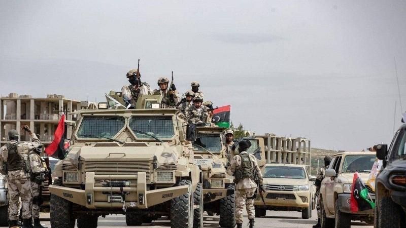 عناصر من الجيش  الوطني الليبي في مدينة الجفرة. (متداولة)
