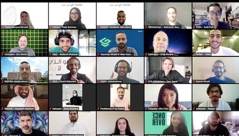 المشاركون المتأهلون في مسرعة الأعمال الخاصة بجامعة «كاوست».