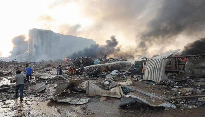 آثار الدمار في مرفأ بيروت