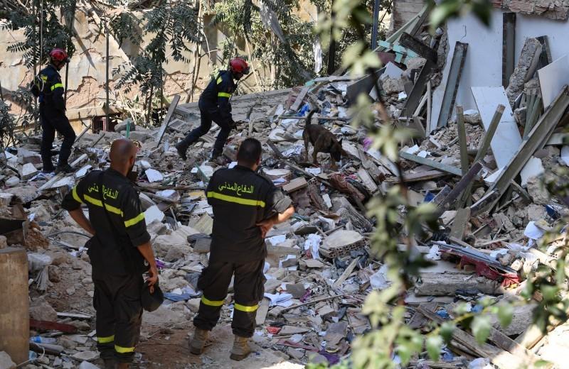 آثار الدمار في حي الجميزة في بيروت.