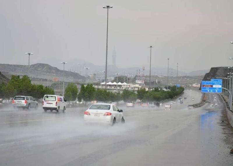 أمطار على مكة المكرمة.