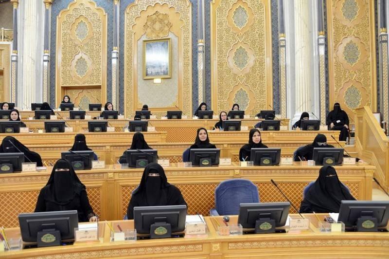 جانب من مجلس جلسات سابقة لمجلس الشورى.
