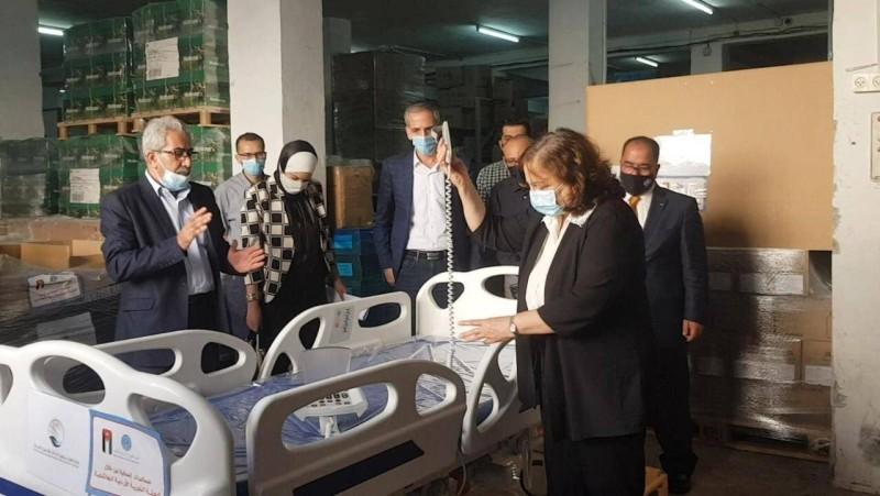الدفعة الثالثة من مساعدات المملكة للصحة الفلسطينية لمواجهة تداعيات كورونا.