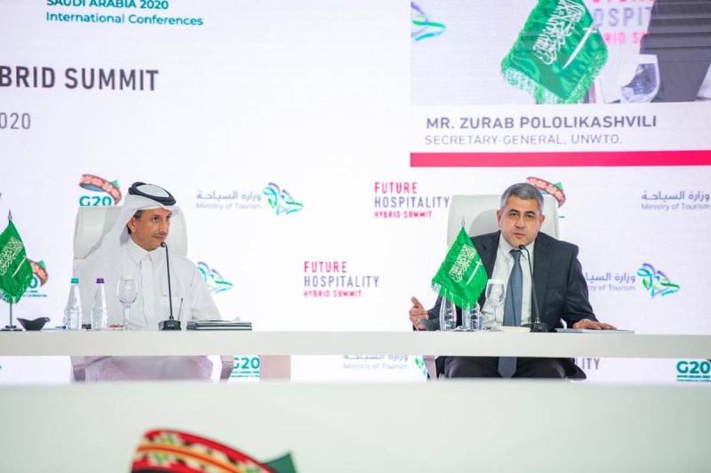 وزير السياحة أحمد الخطيب وأمين عام منظمة السياحة العالمية زوراب بولوليكاشفيلي