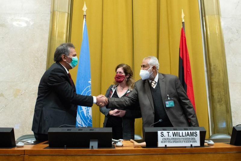 من اجتماعات جنيف لحل الأزمة الليبية.