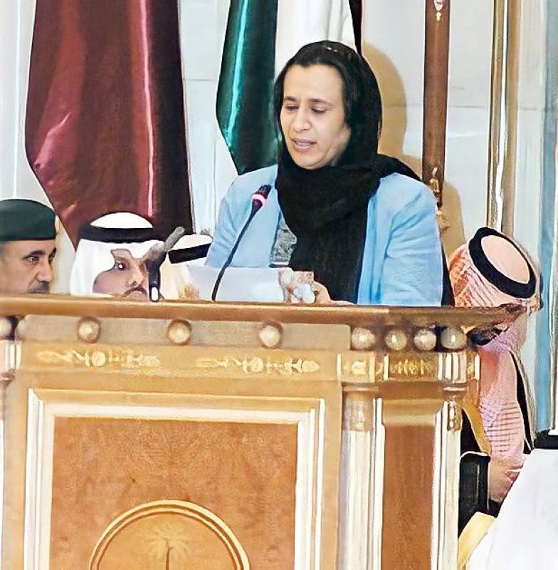 تلقي كلمة في مؤتمر القمة العربي بالرياض عام 2007.
