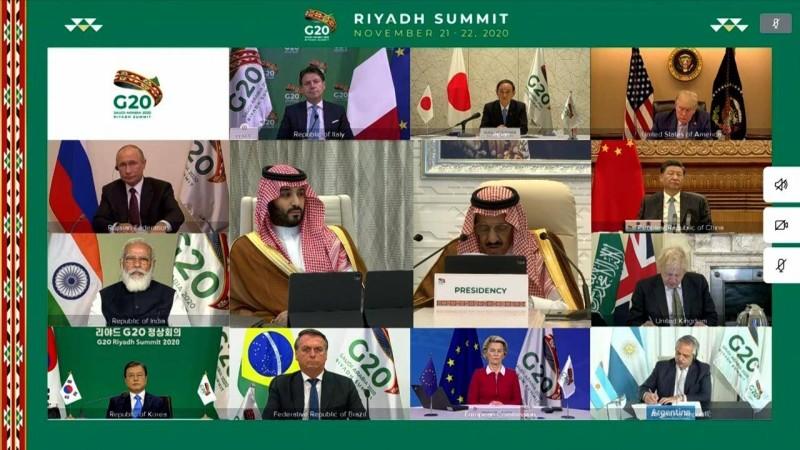 قادة دول العشرين في اللقاء الافتراضي