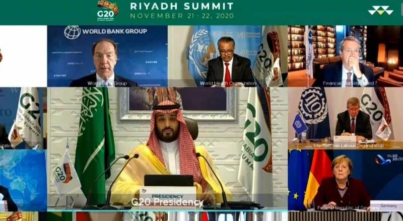 ولي العهد وقادة مجموعة العشرين