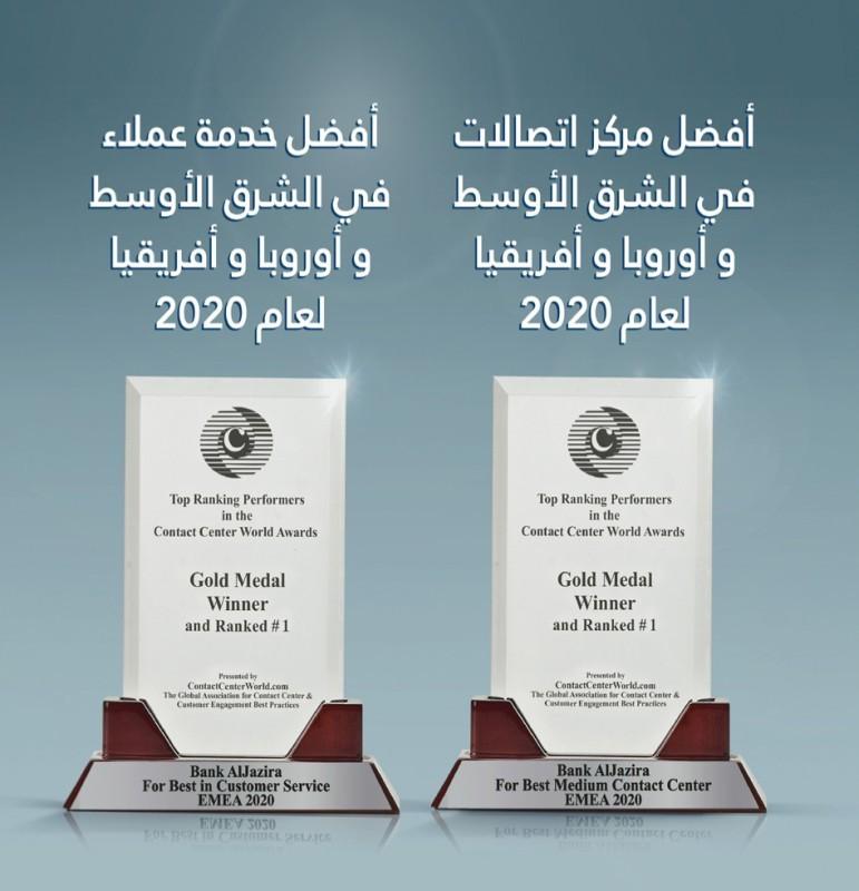 بنك الجزيرة يحصد جوائز مراكز اتصالات العملاء لعام 202