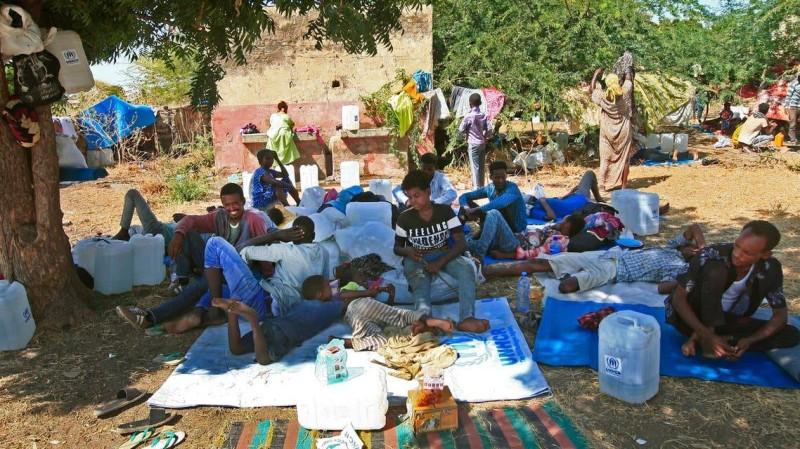 نازحون من إقليم تيغراي شمال إثيوبيا.