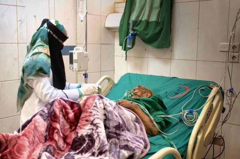 مرضى يمنيون نشرت صورهم منظمة الصحة العالمية على صفحتها في تويتر اليوم.