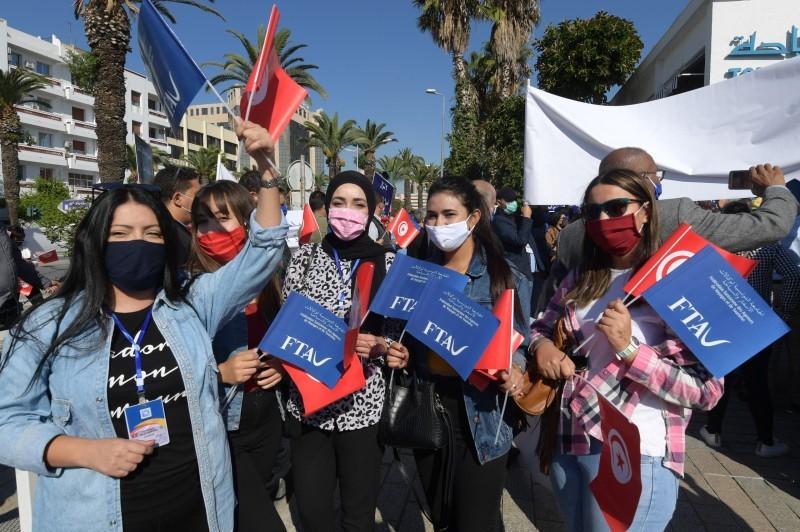 احتجاجات سابقة في تونس.