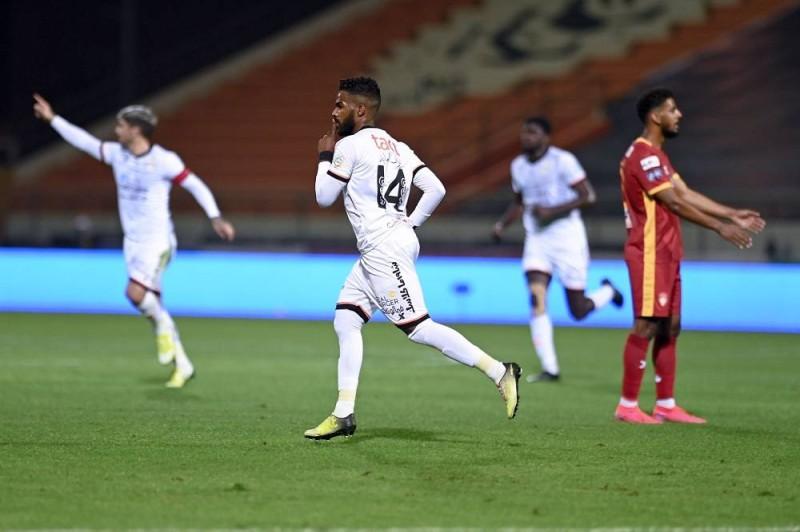 نواف العابد أحرز الهدف الأول لفريقه (نادي الشباب - تويتر)