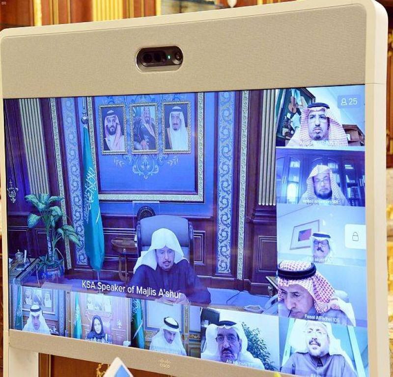 الهيئة العامة لمجلس الشورى في اجتماعها الأول لأعمال السنة الأولى من الدورة الثامنة تحيل عدة موضوعات على جدول الأعمال.