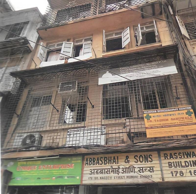 المكتب التجاري لعائلة الشايع في بمبي في الخمسينات.