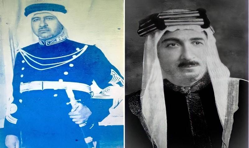 مهدي بك المصلح وخلفه في رئاسة الأمن العام  علي بك جميل.