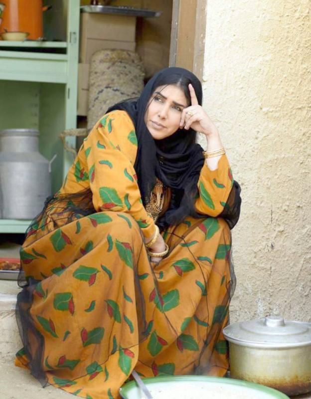 زهرة عرفات في لقطة من المسلسل.
