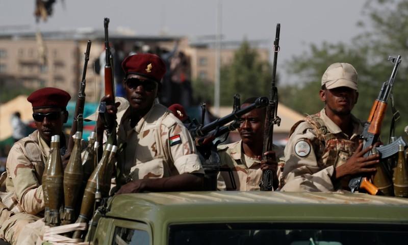 قوات سودانية على الحدود مع إثيوبيا.
