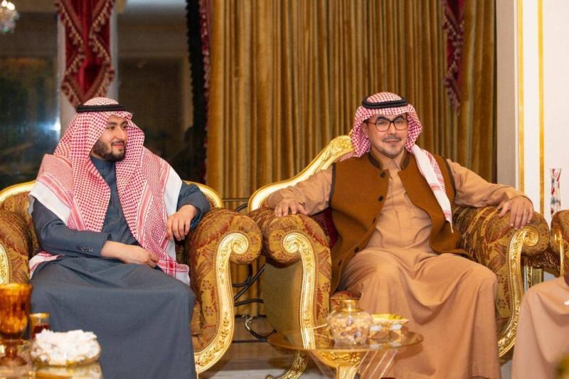 الأمير عبدالله بن سعود والأمير فهد بن منصور