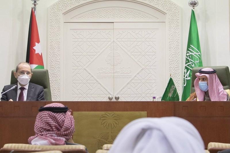وزير الخارجية ونظيره الأردني في المؤتمر الصحفي