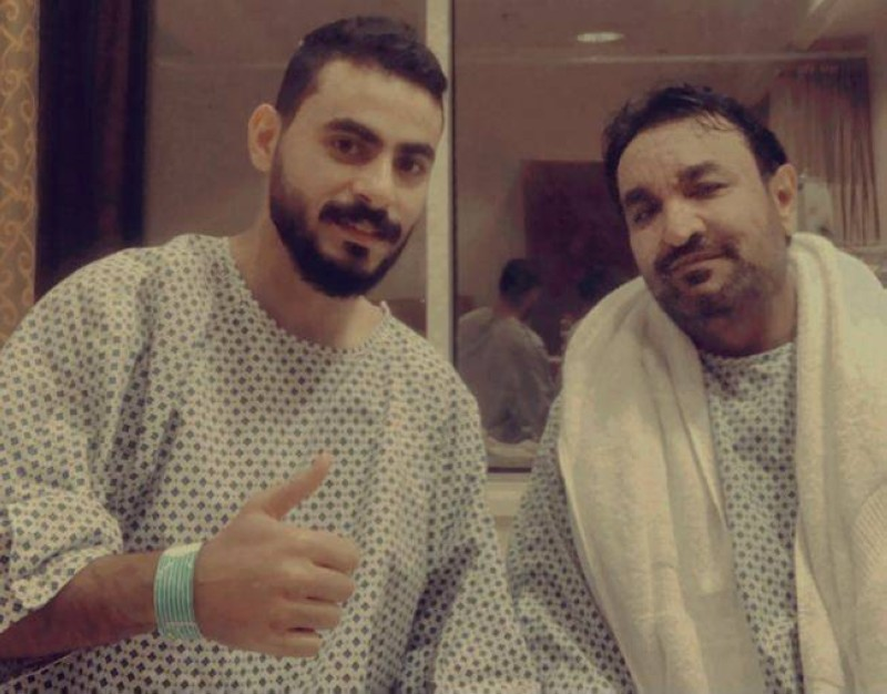 أحمد وأخوه سفران في المستشفى