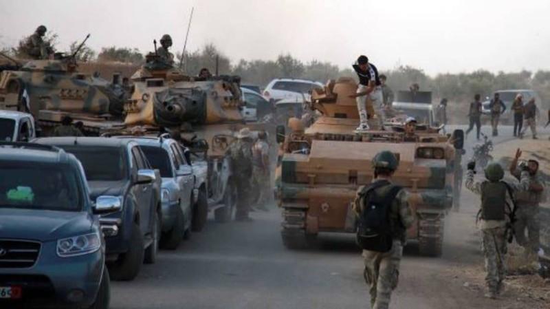 قوات تركية في سورية.