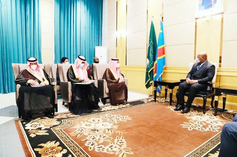 رئيس الكونغو يستقبل وزير الدولة لشؤون الدول الأفريقية.